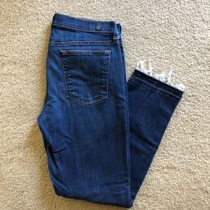 7 For All Mankind Slim Straight Crop